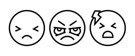 Headache glyph icon. Silhouette symbol. Anger and irritation. Frustration. Nervous tension. Aggression. Occupational stress. Emotional stress symptom. Negative space