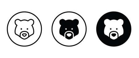 Grizzly bear or honey bear or polar bear head face
