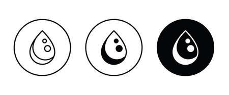 Drop Water, Splash Water Icon Rain Vector Template Vector illustration
