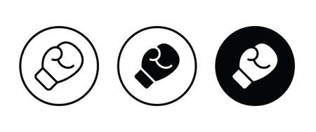 boxing gloves icon button flat design style isolated on white