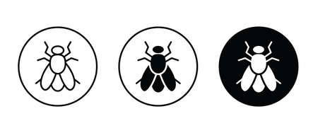 Fly icon vector, filled icon button,  flat design style isolated on white