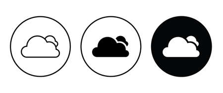 cloudy weather, cloud icon button flat design style isolated on white