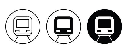 Train subway Railroad cargoflat design style isolated on white