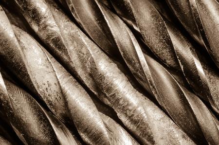 broach: Six drill bits in monochrome Stock Photo