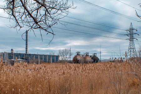 abandoned factory: Abandoned factory shop Stock Photo