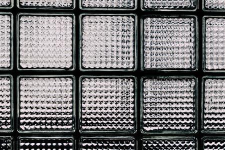 glass block: Pattern of glass block wall Stock Photo