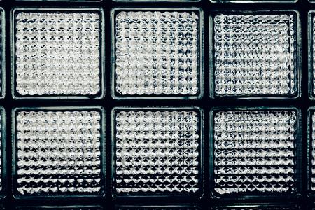 glass block: Closeup glass block wall Stock Photo