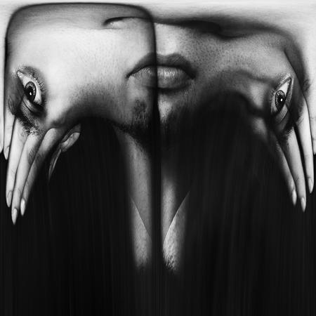 abstraktes Bild eines Gesichts