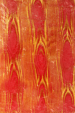 Gold on red wall, background texture