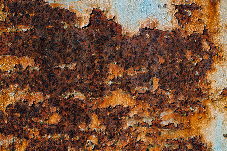texture of rusty iron, cracked paint on an old metallic surface, sheet of rusty metal with cracked and flaky paint,  abstract rusty metal texture, rusty metal background for design with copy space