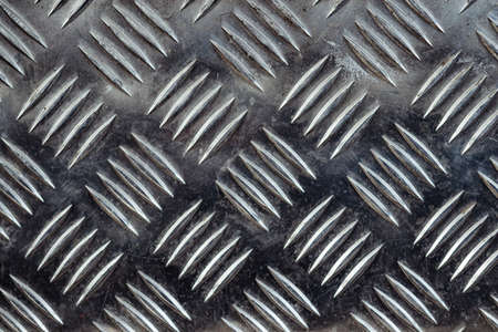 Seamless metal floor plate with diamond pattern, anti slip stainless steel sheet and plate, ribbed metal sheet, silver metal grip texture, aluminum notched sheets