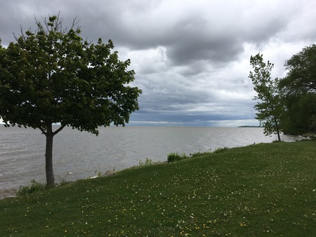 View from the shores of Green Bay, Wisconsin, USA.