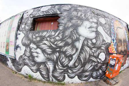 ストリート アートとグラフィティ ベルリンで, ドイツ