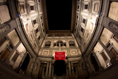 campanile: Uffizzi Museum in  Florence in Tuscany in Italy Editorial