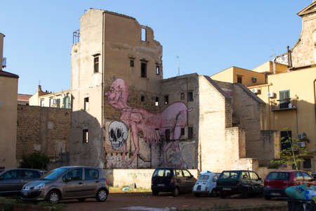 palermo: Street Art in Palermo, Italy Editorial