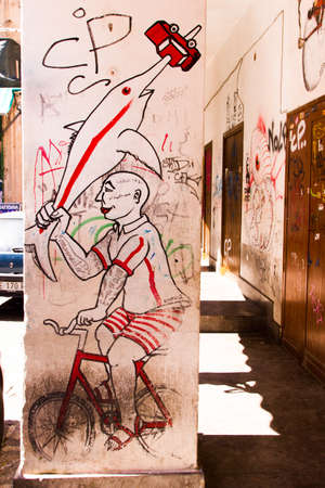 palermo   italy: Street Art in Palermo, Italy Editorial
