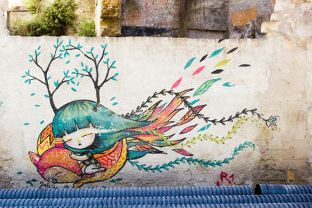 Street Art in Palermo, Italy Editorial