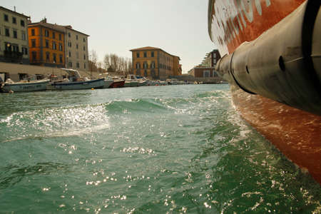 livorno: Canals of the city of Livorno, Italy