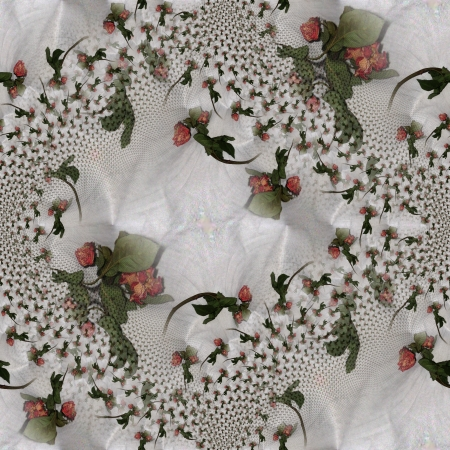 Ornamental tileable texture with a dried rose  Stock Photo