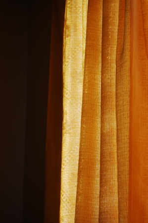 Sun shining through the curtain