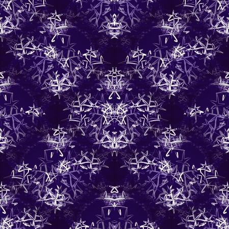 Seamless tileable decorative texture with snowflakes on dark background Stock Photo - 24142476