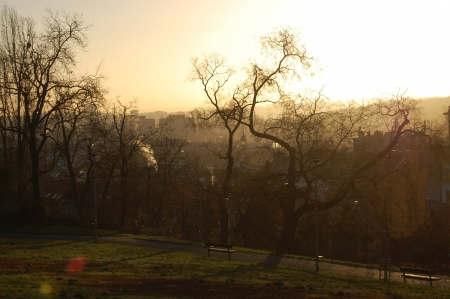 Morning dawn over Prague photo
