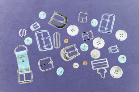 buckles: Composition of buttons and buckles  Stock Photo