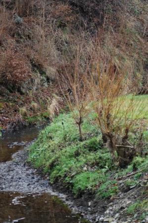 hillsides: Stream under hillsides  Stock Photo