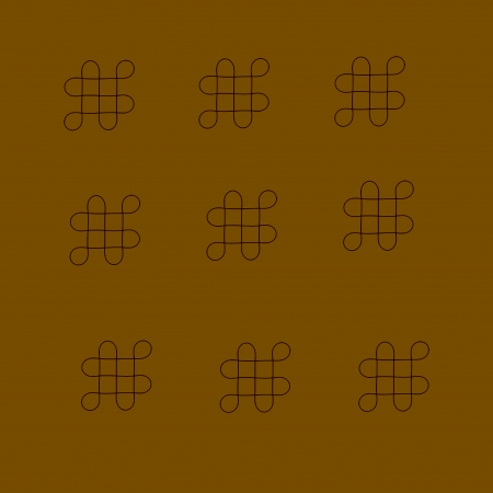 sustained: Oriental infinity symbol mystic knot pattern