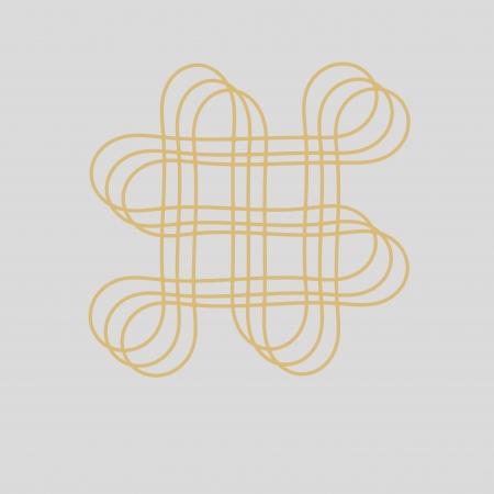 long term: Oriental infinity symbol mystic knot pattern