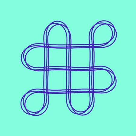 fengshui: Oriental infinity symbol mystic knot pattern