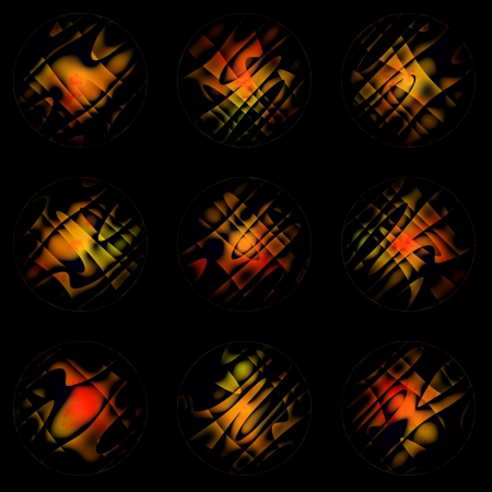 none: None abstract fire orange yellow circles on black background