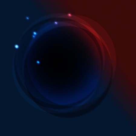 Abstract red blue circle background photo