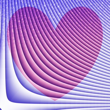 Abstract square background with heart motif in blue,  pink and white pastel tones photo