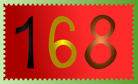 Postage stamp with number 168