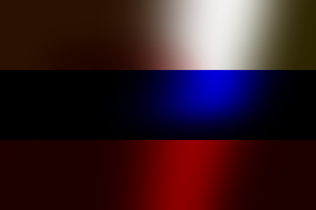 bloodstains: Russian flag dirty with dried blood