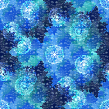 tileable: Abstract winter tileable background Stock Photo