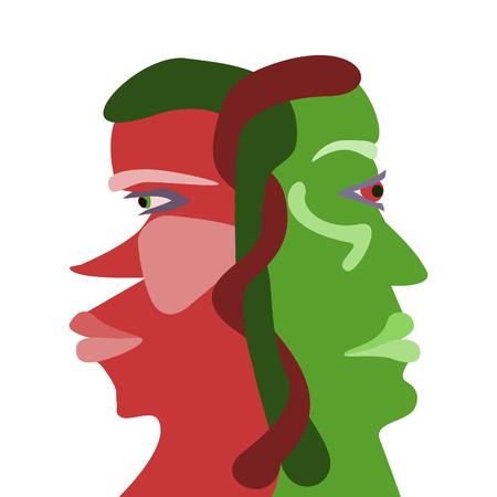 ambivalence: Interd�pendances rouges et vertes font face � des profils