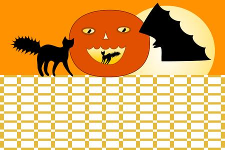 Orange Halloween timetable Stock Photo