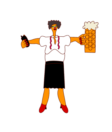 Alcohol on workplace - woman manager