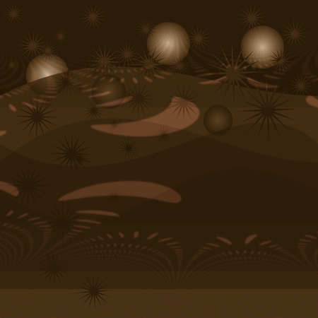 Abstract bronze stars bubble background