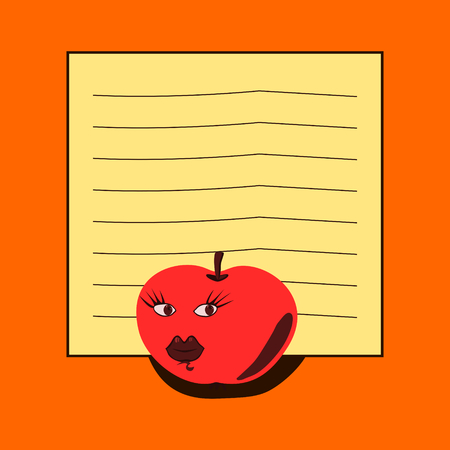 peristalsis: Note pad - red apple