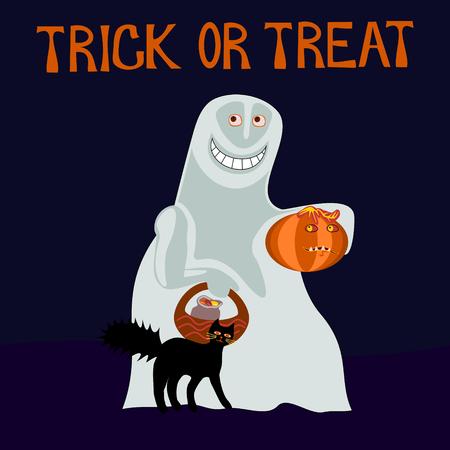 caroling: Trick or treat - happy ghost