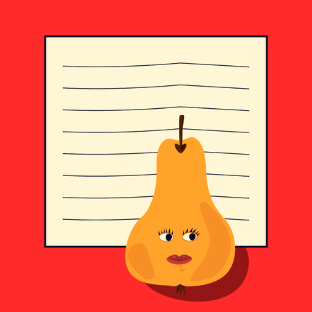 note pad: Note pad -  pear