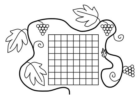 fekete-fehér: Kifestőkönyv oldal fekete-fehér iskolai órarend Illusztráció