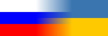 disinformation: Blending Russian and Ukrainian flags by interpolation