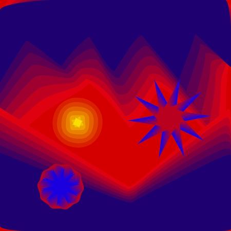 jaune rouge: Bleu jaune rouge abstrait