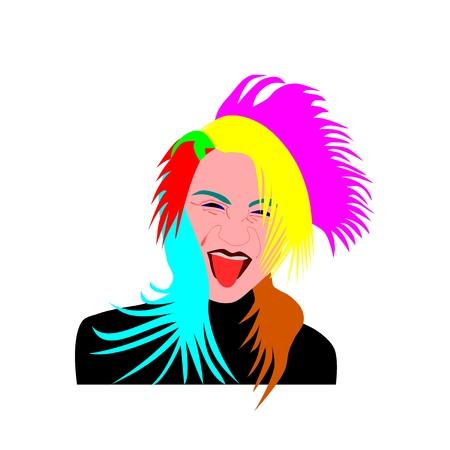 flaky: Portrait of eccentric lady