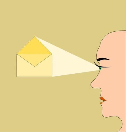 paranoia: Mail concept - secrecy of correspondence Illustration