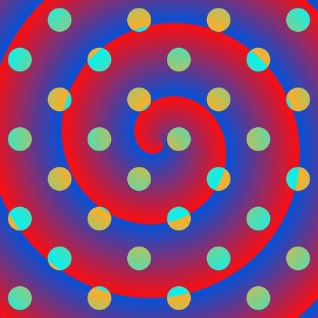 Spiral polka dots crazy background photo